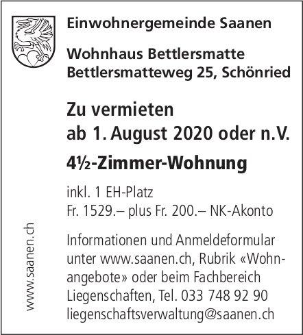 4.5-Zimmer-Wohnung,  Schönried, zu vermieten