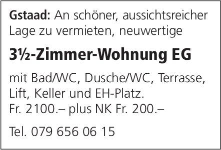 3.5-Zimmer-Wohnung EG, Gstaad, zu vermieten