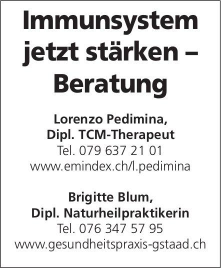 Lorenzo Pedimina & Brigitte Blum - Immunsystem jetzt stärken – Beratung