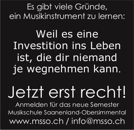 MSSO, Saanenland-Obersimmental - Jetzt erst recht!
