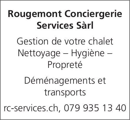 Rougemont Conciergerie Services Sàrl, Rougemont - Gestion de votre chalet