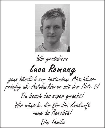 Wir gratuliere Luca Romang ganz härzlich zur bestandene Abschlussprüefig als Autolackierer