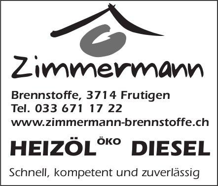 Zimmermann Brennstoffe, Frutigen - Heizöl Öko Diesel