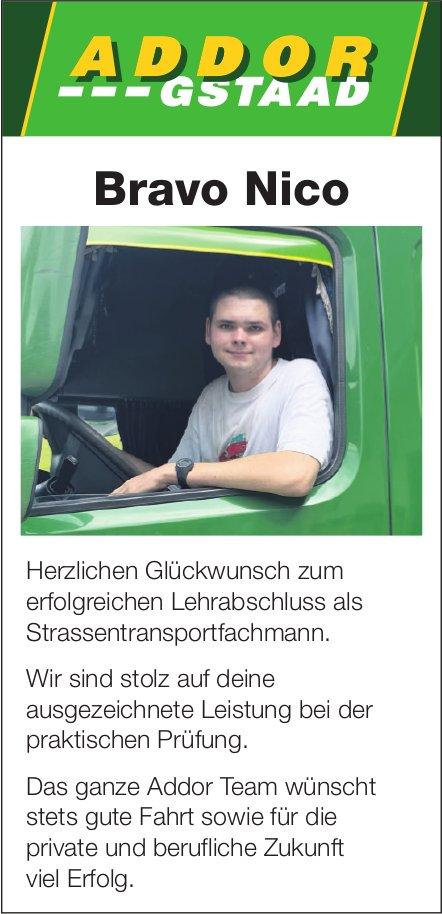 Bravo Nico - Herzlichen Glückwunsch zum erfolgreichen Lehrabschluss als Strassentransportfachmann