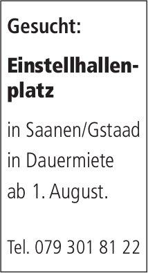 Einstellhallenplatz, Saanen/Gstaad, zu mieten gesucht