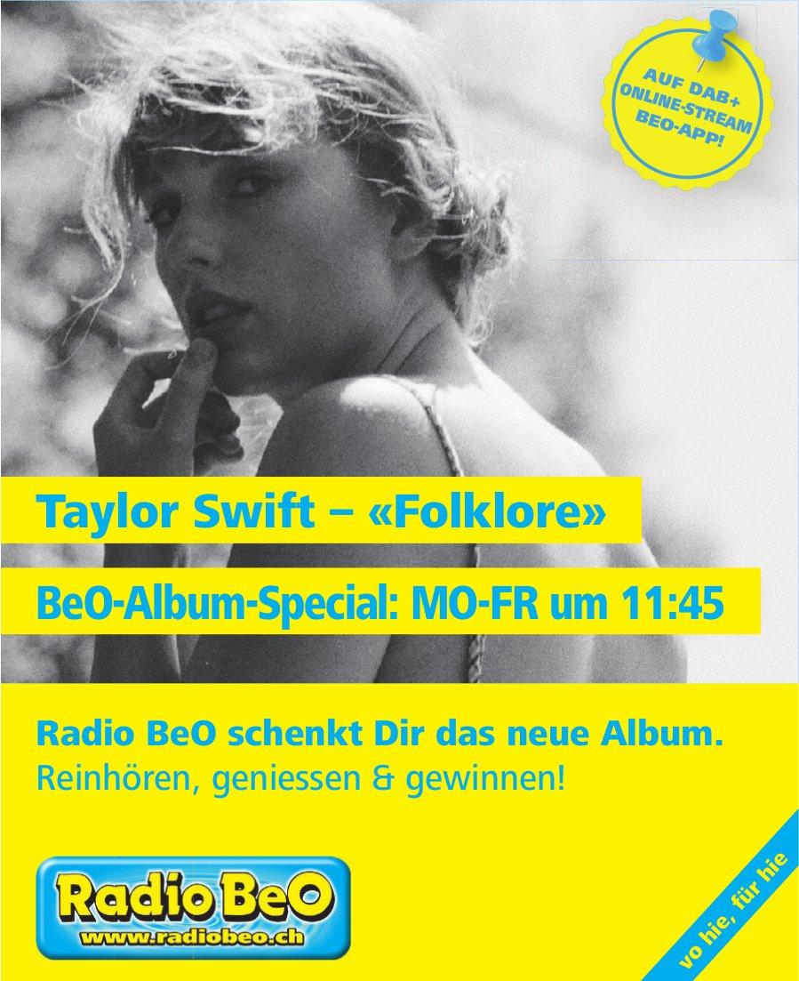 Taylor Swift – «Folklore» BeO-Album-Special: Mo-Fr um 11:45