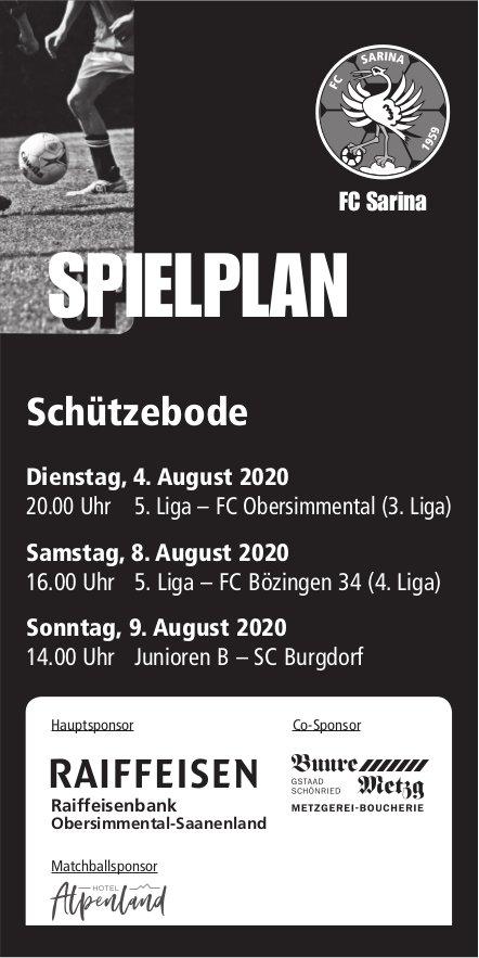 Spielplan, 9. August, Burgdorf,