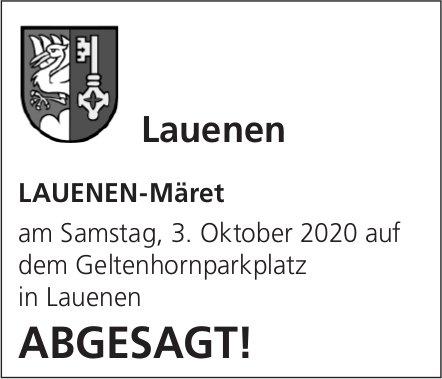 LAUENEN-Märet ABGESAGT!