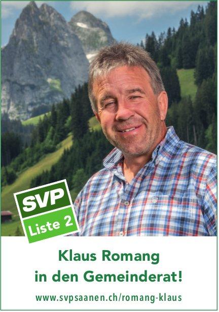 Svpsaanen, Klaus Romang in den Gemeinderat!