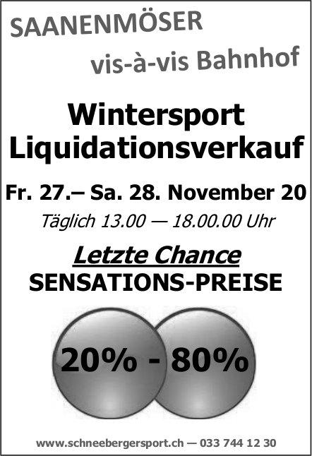 Wintersport Liquidationsverkauf, 27. / 28. November, Schneeberger Sport, Saanenmöser