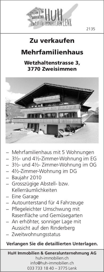 Mehrfamilienhaus mit 3.5- bis 4.5-Zimmer-Wohnungen, Zweisimmen, zu verkaufen