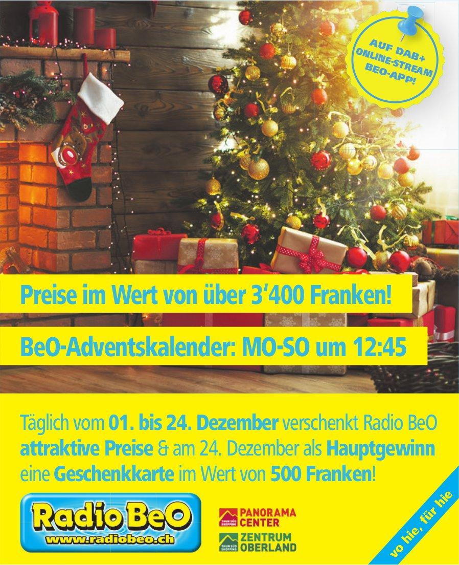 Radio BeO - Preise im Wert von über 3'400 Franken!