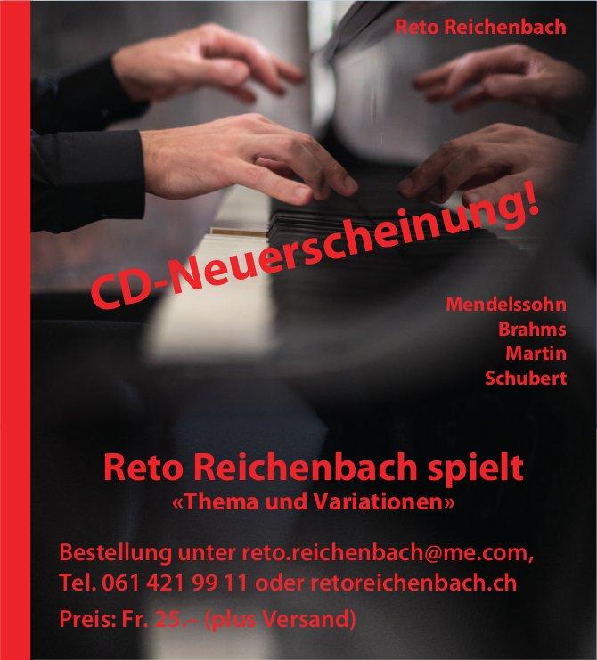 Reto Reichenbach - CD-Neuerscheinung