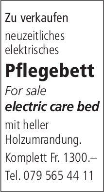 Neuzeitliches elektrisches Pflegebett zu verkaufen