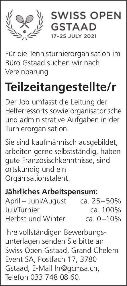 Teilzeitangestellte/r, Swiss Open Gstaad, Grand Chelem Event SA, gesucht