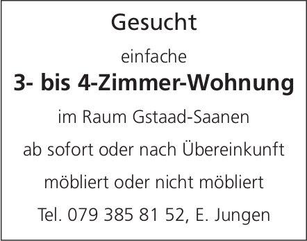 3- bis 4-Zimmer-Wohnung, Gstaad-Saanen, zu mieten gesucht