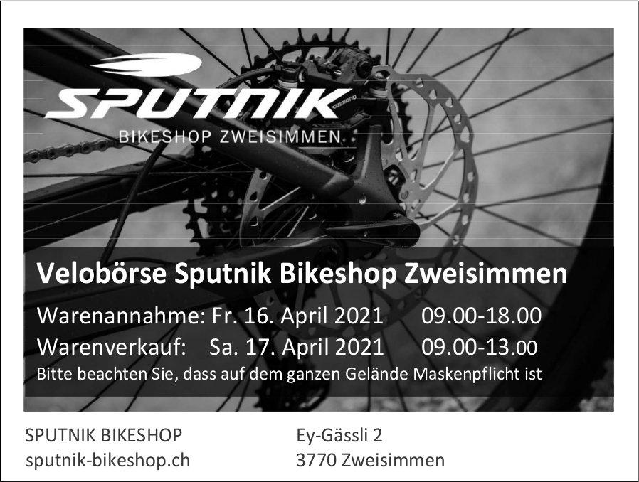 Warenannahme & Warenverkauf, 16. + 17. April, Velobörse Sputnik Bikeshop, Zweisimmen