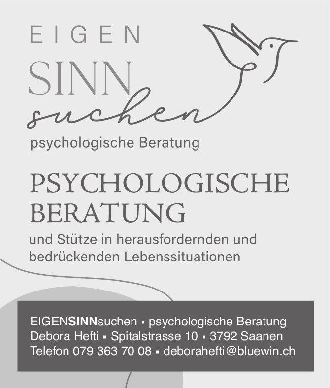 EIGENSINNsuchen, Saanen - Psychologische Beratung