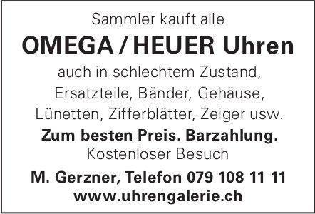 Uhrengalerie Gerzner -  Sammler kauft alle Omega/Heuer Uhren