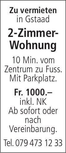 2-Zimmer-Wohnung, Gstaad, zu vermieten