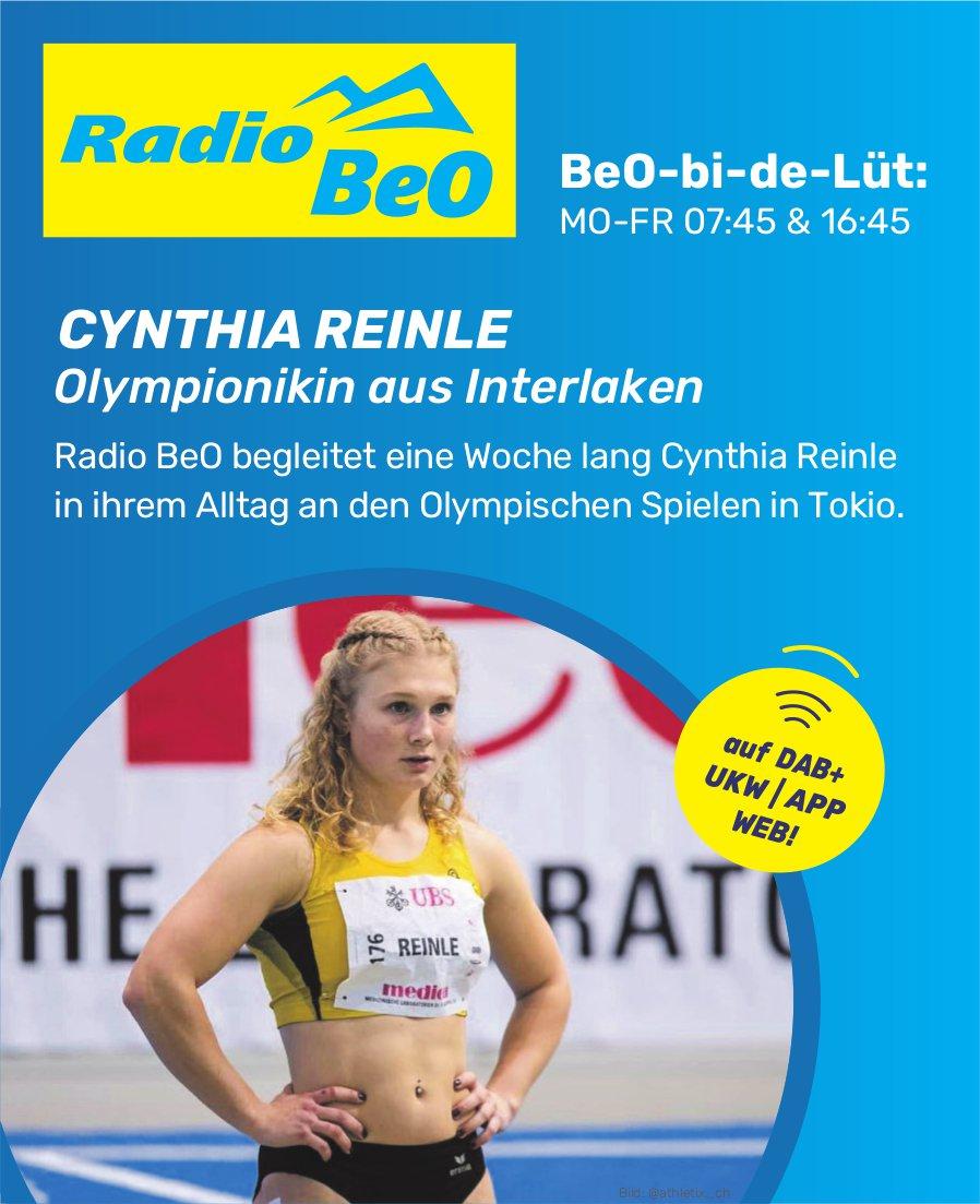 Radio BeO begleitet eine Woche lang Cynthia Reinle in ihrem Alltag an den Olympischen Spielen in Tokio.