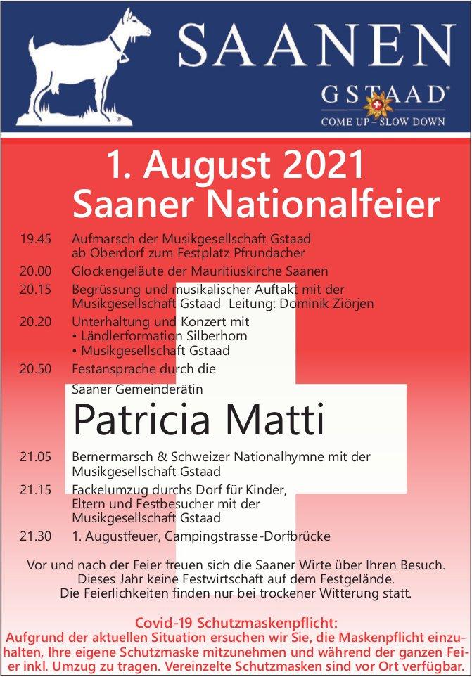 1. August 2021, Saaner Nationalfeier, Saanen