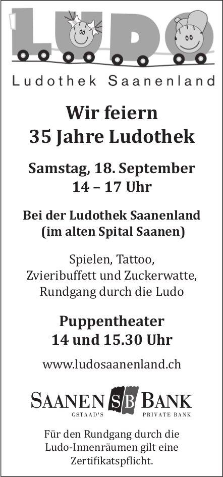 Wir feiern 35 Jahre Ludothek, 18. September, altes Spital, Saanen