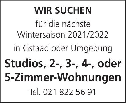 Studios, 2-, 3-, 4-, oder 5-Zimmer-Wohnungen, Gstaad,  zu mieten gesucht