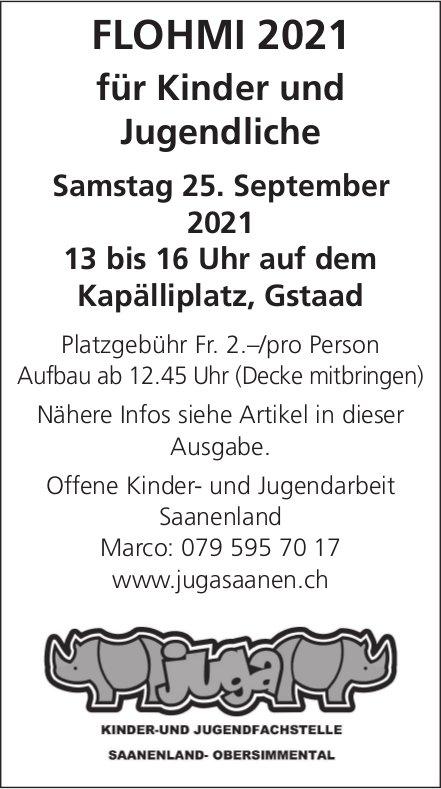 Flohmi 2021 für Kinder und Jugendliche, 25. September, Kapälliplatz, Gstaad