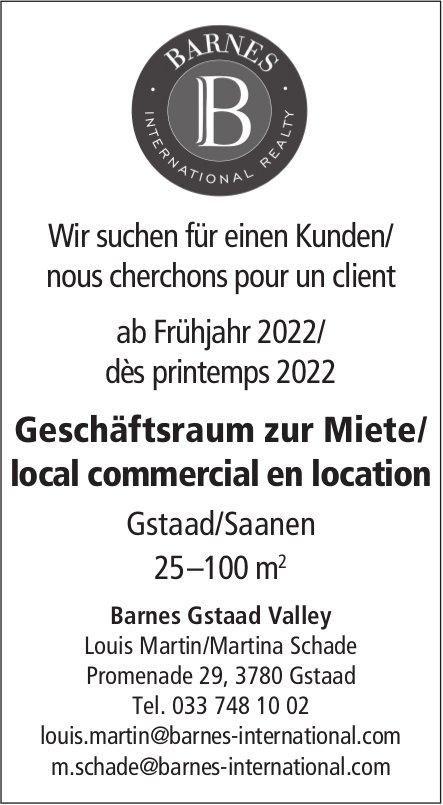 Geschäftsraum zur Miete/local commercial en location, Gstaad, Saanen, zu mieten gesucht