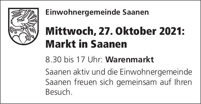 Warenmarkt, 27. Oktober, Saanen