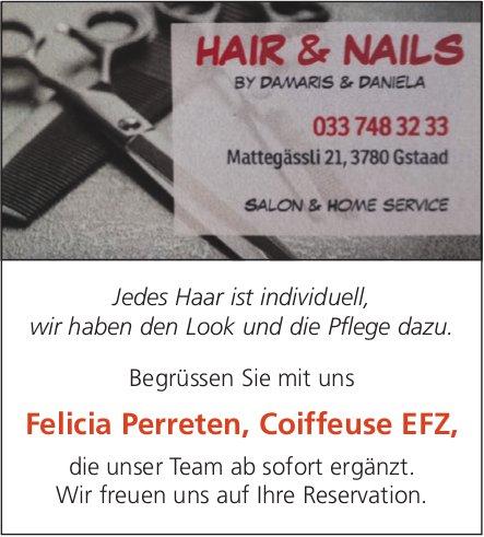 Hair & Nails, Gstaad - Begrüssen Sie mit uns Felicia Perreten, Coiffeuse EFZ