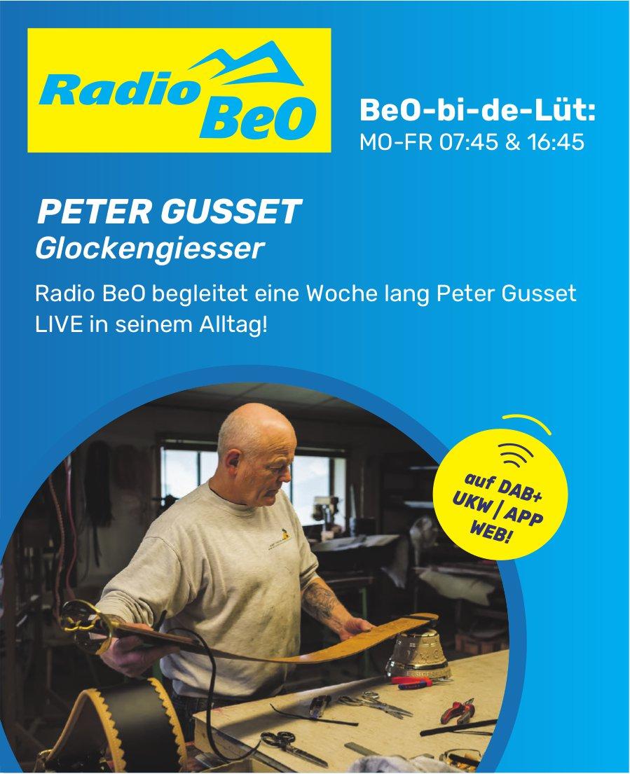 Radio BeO - Radio BeO begleitet eine Woche lang Peter Gusset Live in seinem Alltag!