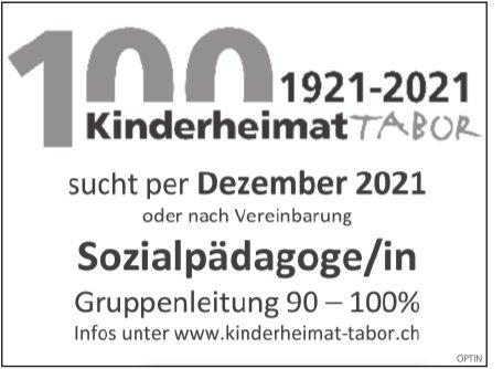 Sozialpädagoge/in, Kinderheimat Tabor, gesucht