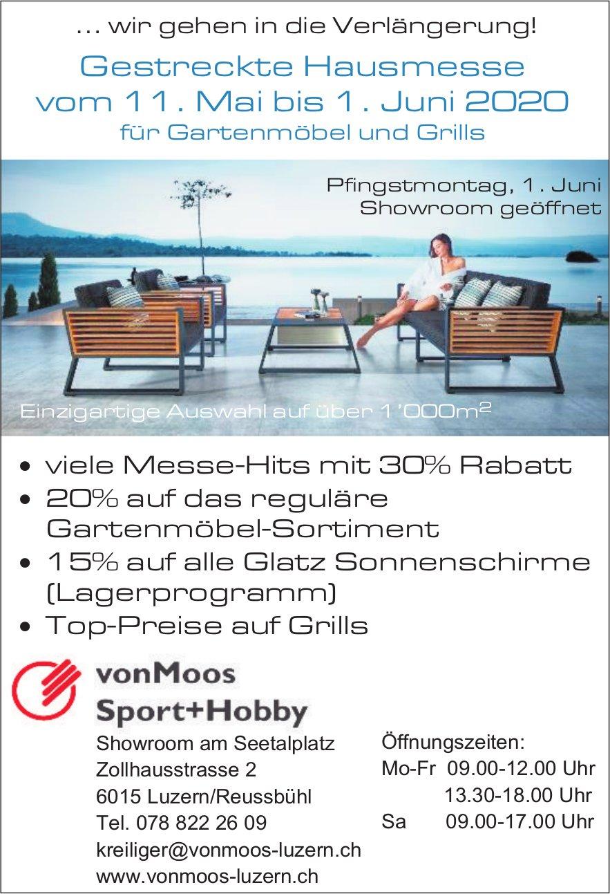 Gestreckte Hausmesse, 11. Mai bis 1. Juni, vonMoos Sport+Hobby, Luzern/Reussbühl