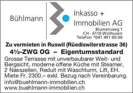 4.5-ZWG OG – Eigentumsstandard, Ruswil, zu vermieten