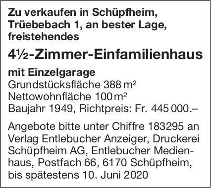 4.5-Zimmer-Einfamilienhaus,  Schüpfheim, zu verkaufen