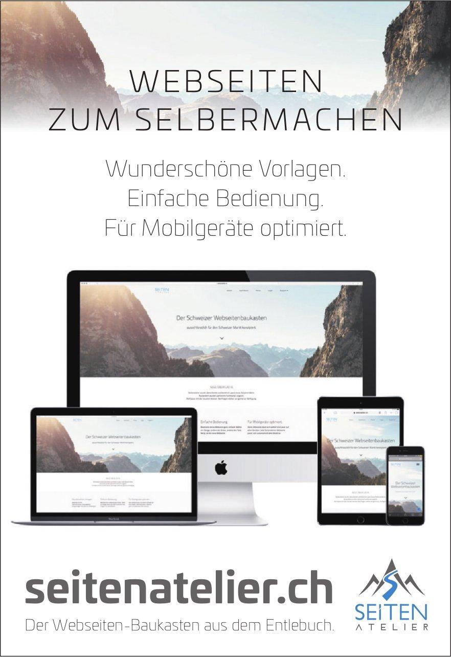 Seitenatelier.ch - Webseiten zum Selbermachen