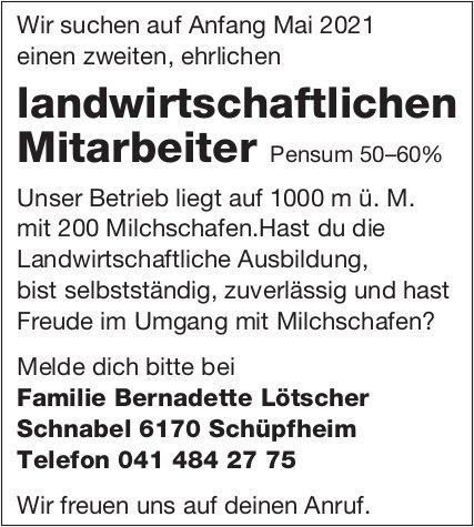 Landwirtschaftlicher Mitarbeiter, Schüpfheim, gesucht
