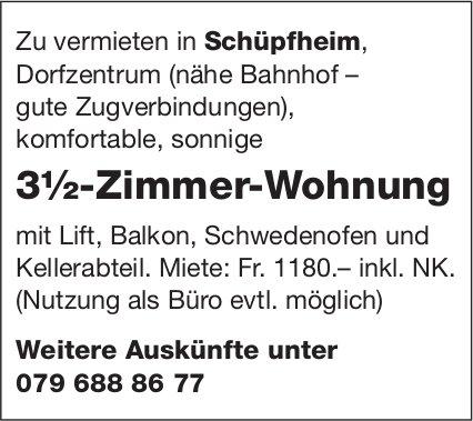 3.5-Zimmer-Wohnung, Schüpfheim, zu vermieten