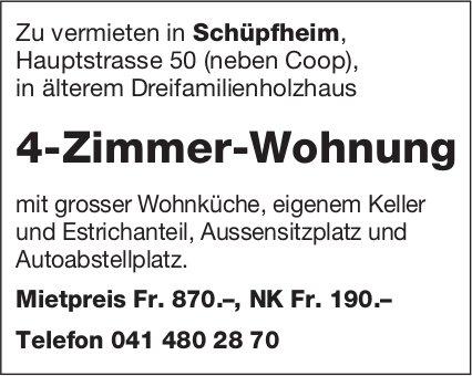 4-Zimmer-Wohnung, Schüpfheim, zu vermieten