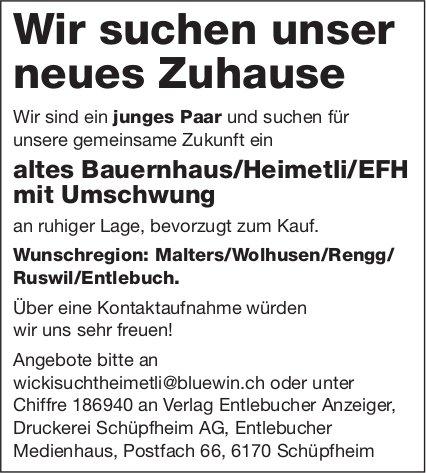 Altes Bauernhaus/Heimetli/EFH mit Umschwung, Malters/Wolhusen/Rengg/ Ruswil/Entlebuch, zu kaufen gesucht