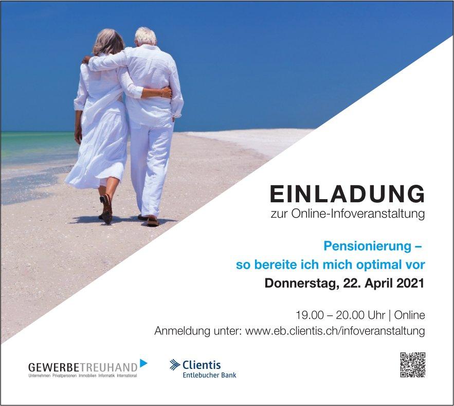 Online-Infoveranstaltung: Pensionierung - so bereite ich mich optimal vor, 22. April