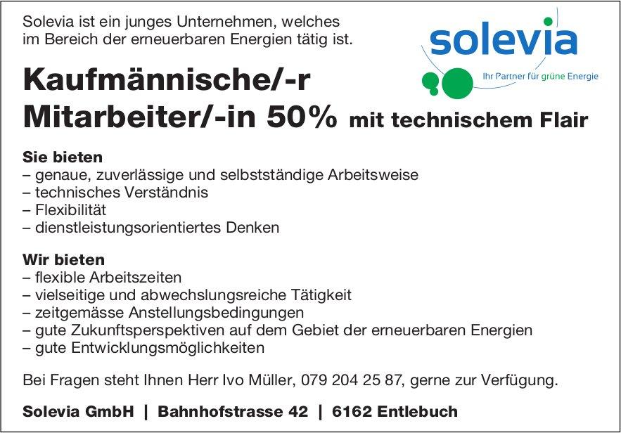 Kaufmännische/-r Mitarbeiter/-in 50%, Solevia GmbH, Entlebuch, gesucht