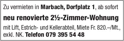 2.5-Zimmer-Wohnung, Marbach, zu vermieten