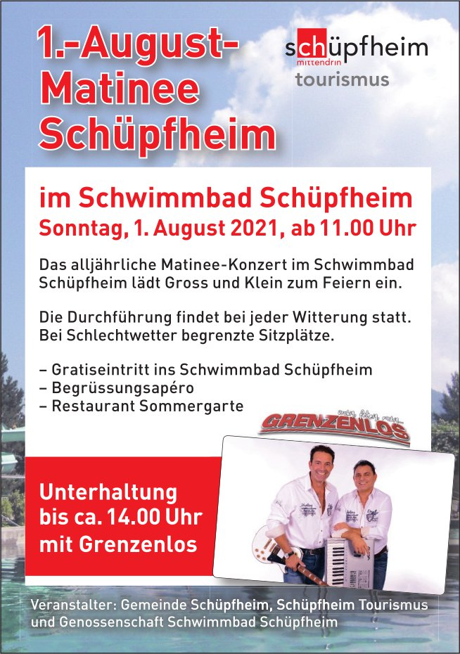 1.-August-Mattinee, Schwimmbad, Schüpfheim