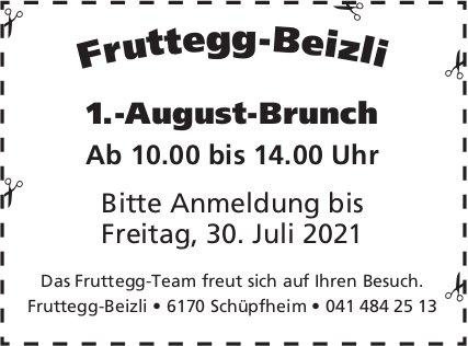 1.-August-Brunch, Fruttegg-Beizli, Schüpfheim