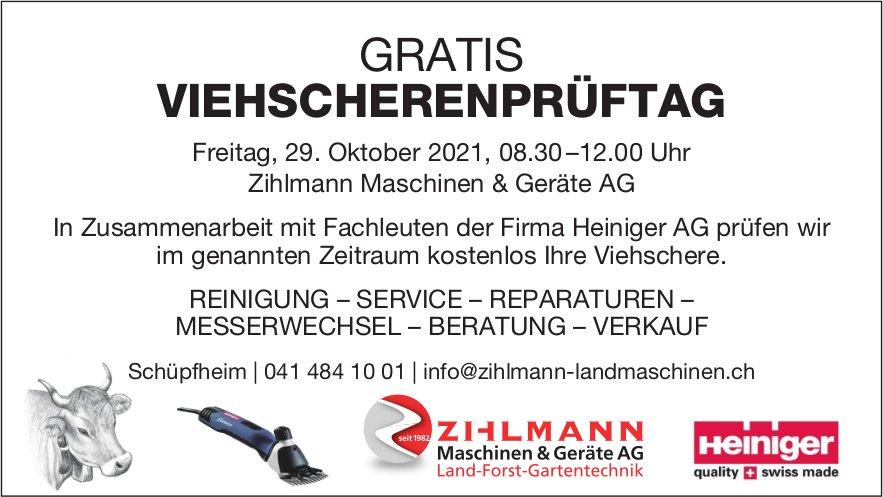 Gratis Viehscherenprüftag, 29. Oktober, Zihlmann Maschinen & Geräte AG, Schüpfheim