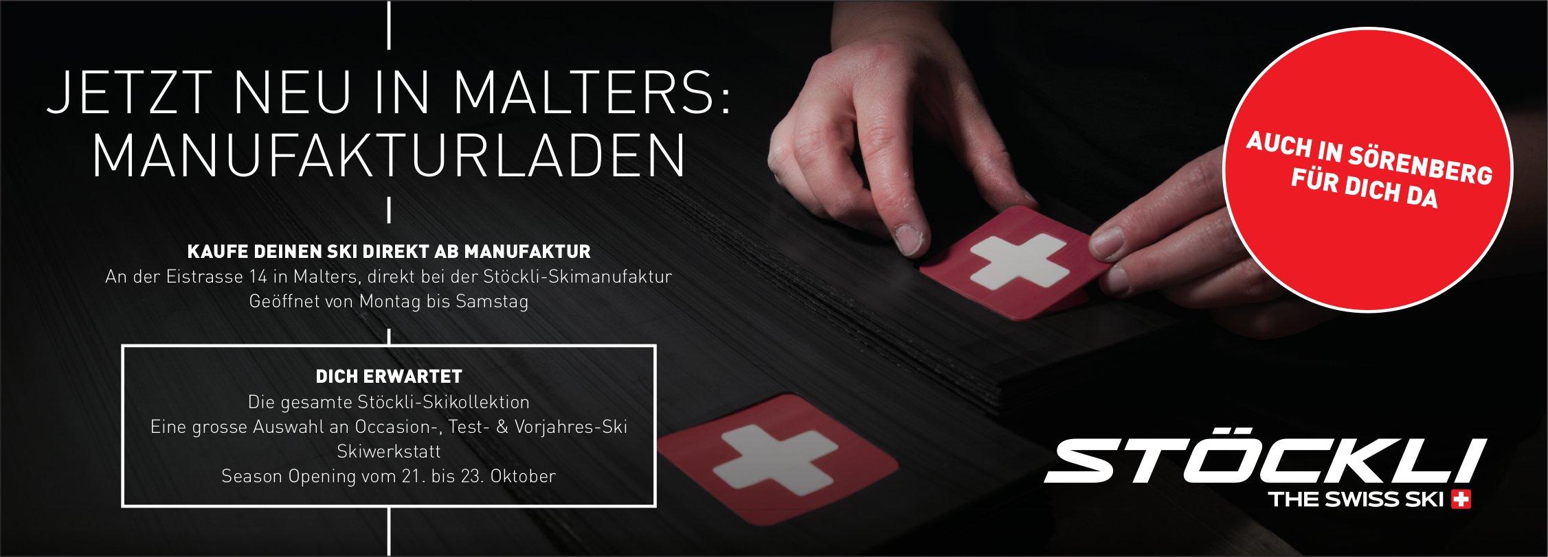 Stöckli-Skimanufaktur, Malters - Jetzt neu in Malters: Manufakturladen