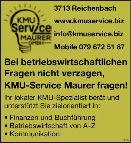 KMU-Service Maurer, Bei betriebswirtschaftlichen Fragen nicht verzagen